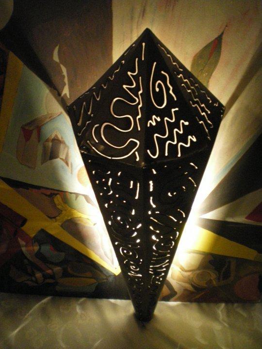 lampada da parete in ferro