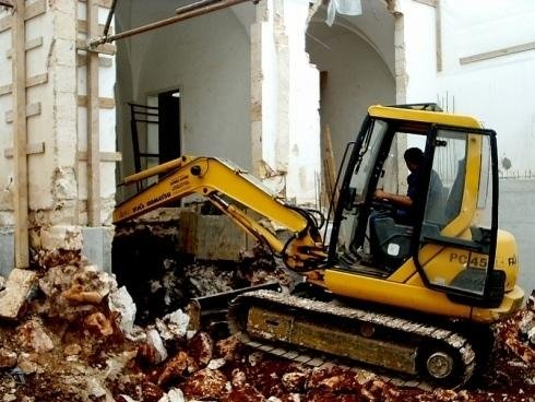 Indoor excavations