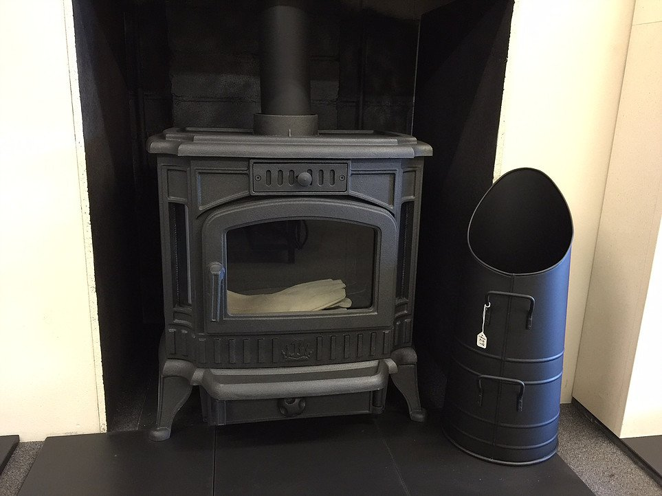 grey coloured fireplace