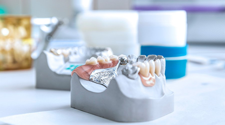 View of Denture