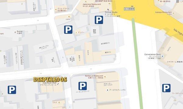 Pay parking near Desperados
