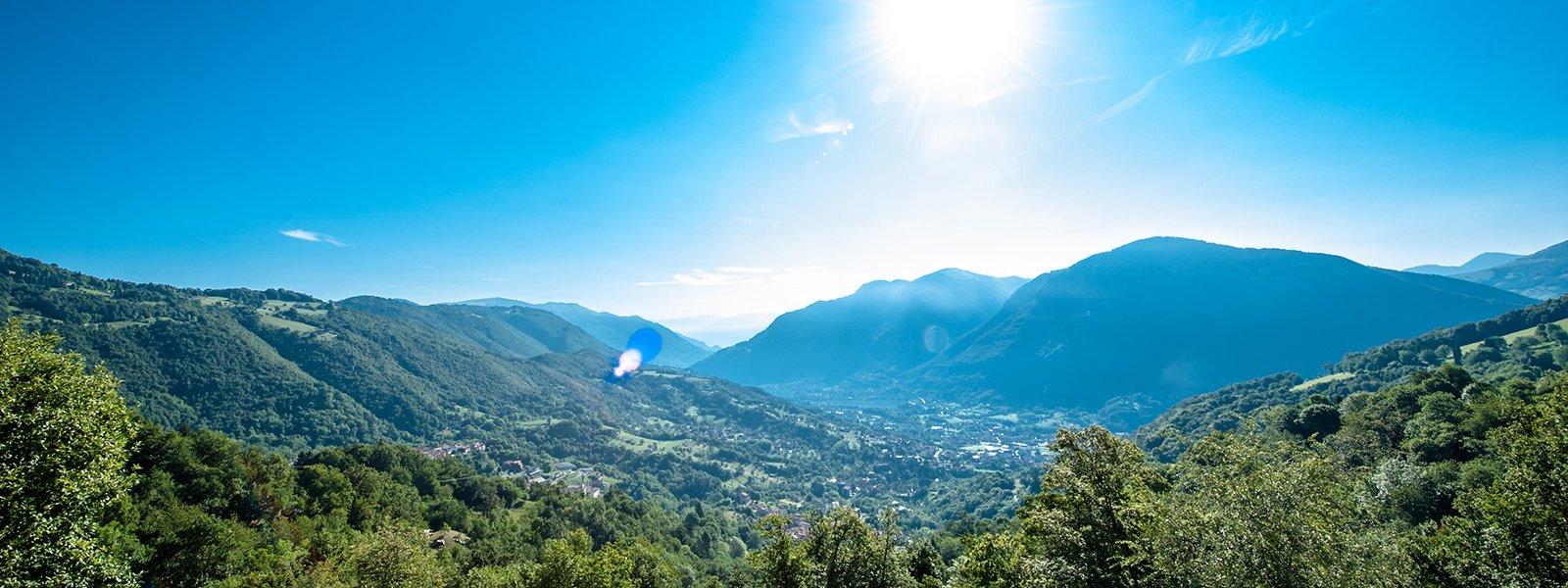 Vista panoramica valli bergamasche