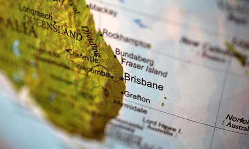 Travel map of Brisbane