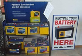 yates auto service battery display