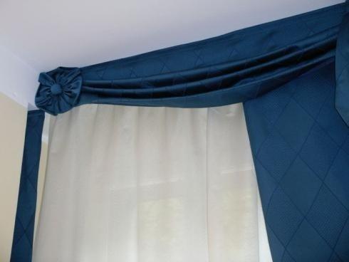 tende blu appartamento