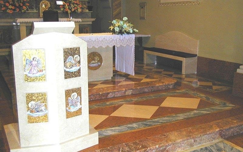 Restauro marmo in chiesa