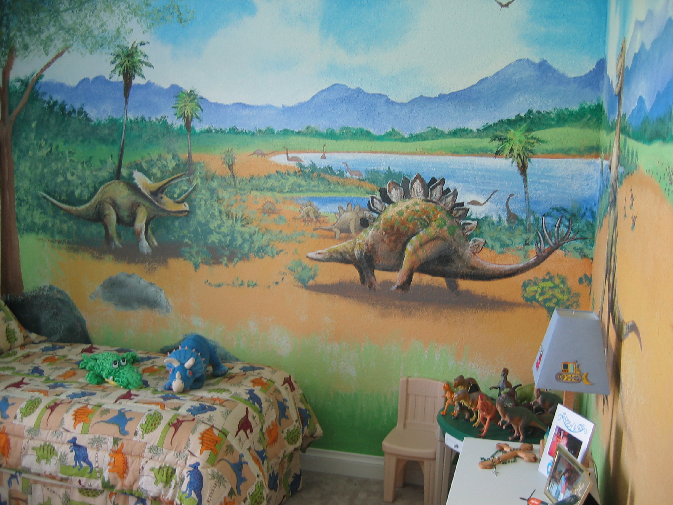 Wall murals dinosaur wall mural amipublicfo Image collections