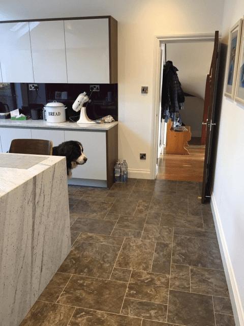 custom designed kitchen flooring