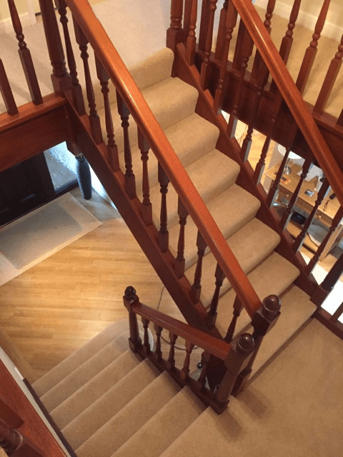 view of the flooring from stairs