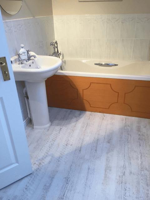 white colour flooring