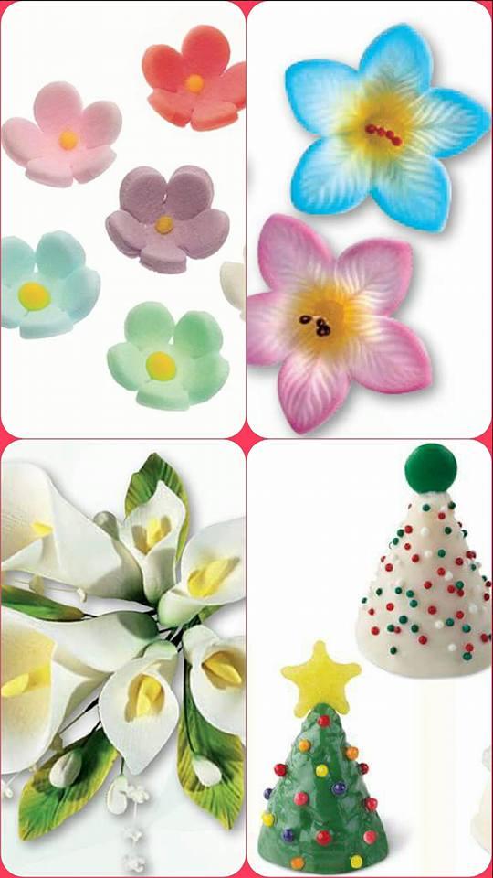 fiori in pastsa di zucchero
