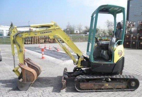 un escavatore giallo e verde della marca Yanmar