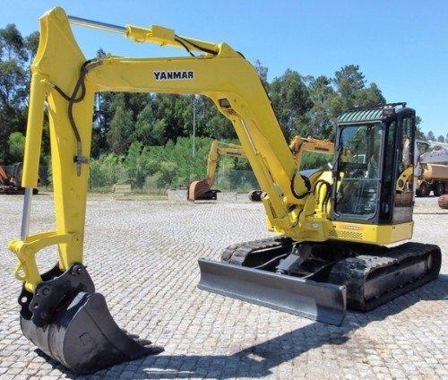 un escavatore giallo cingolato della marca Yanmar