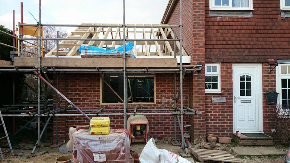 Home extension being created