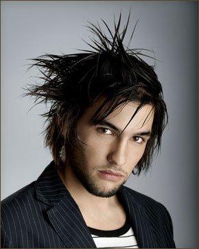Modern men's hair styling
