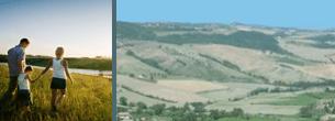 fra le verdi colline toscane