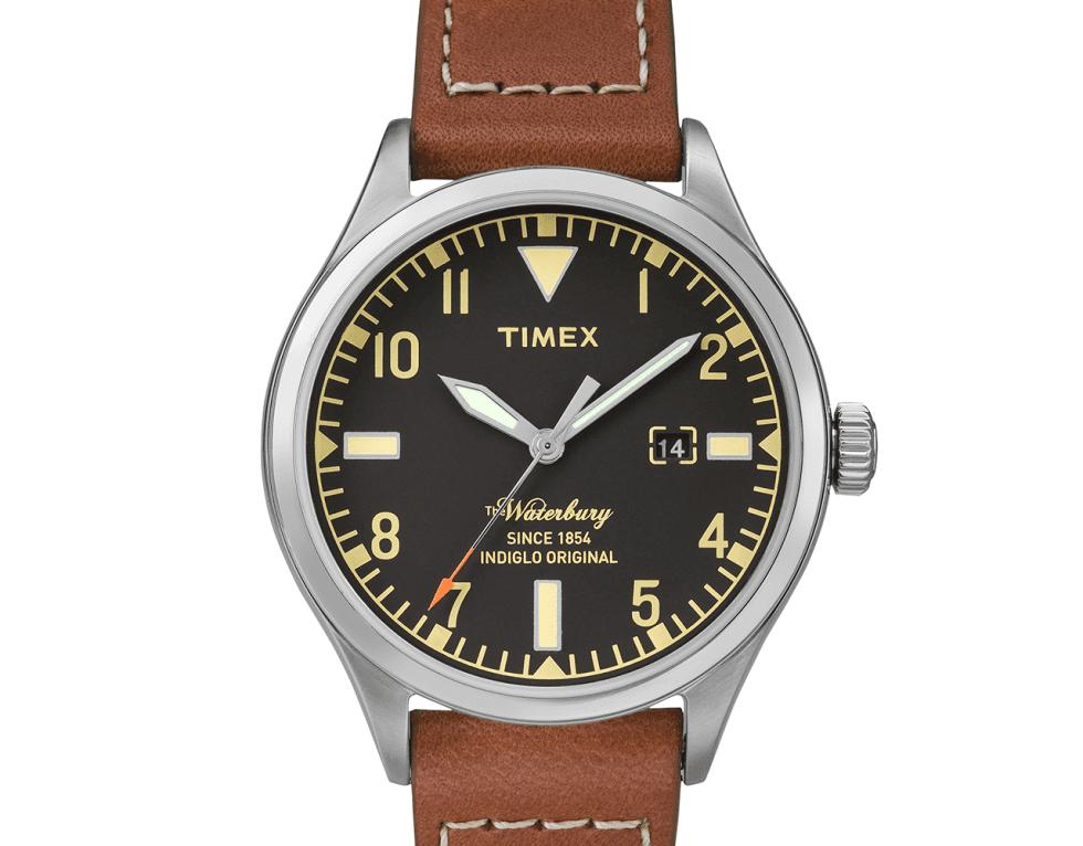 un orologio di pelle di Timex