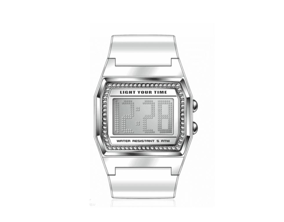 un orologio color argento