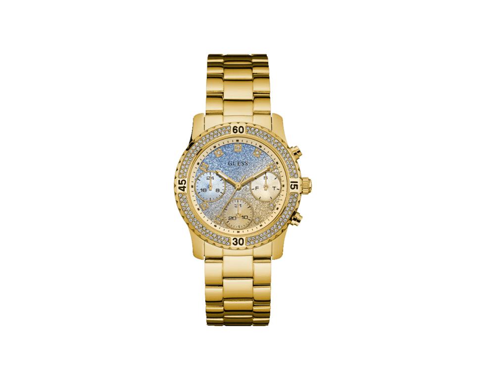 un orologio di Guess d'oro