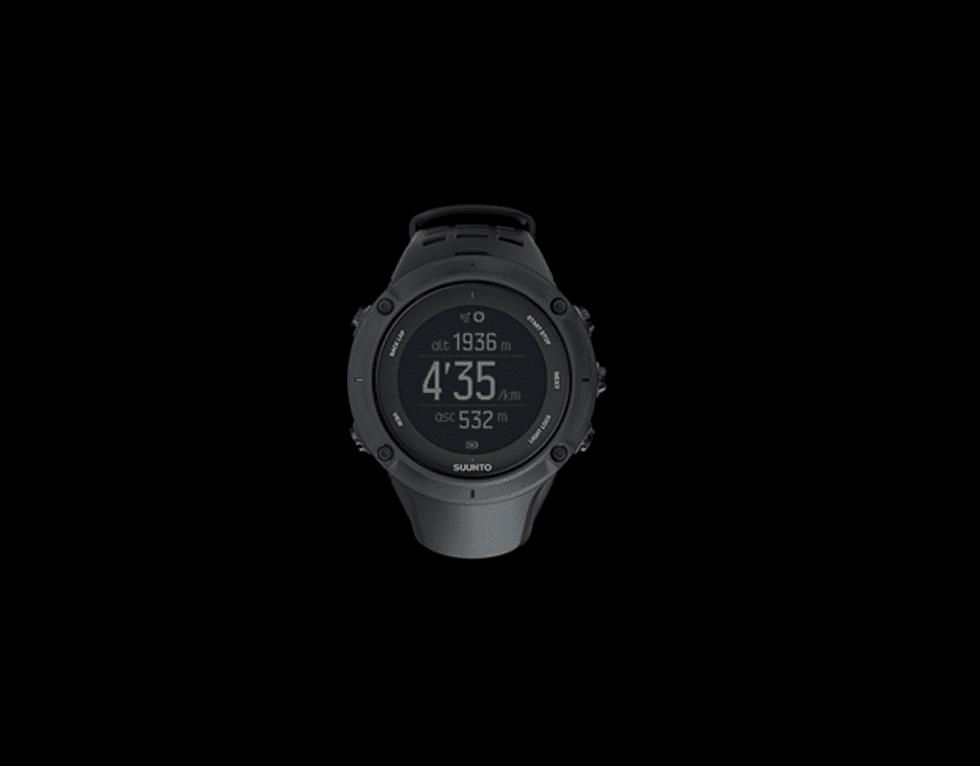 un orologio di Suunto nero