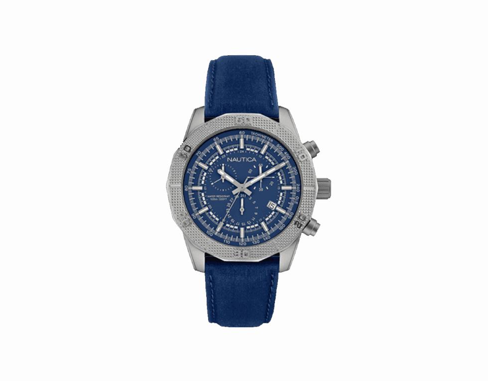 un orologio di Nautica blu