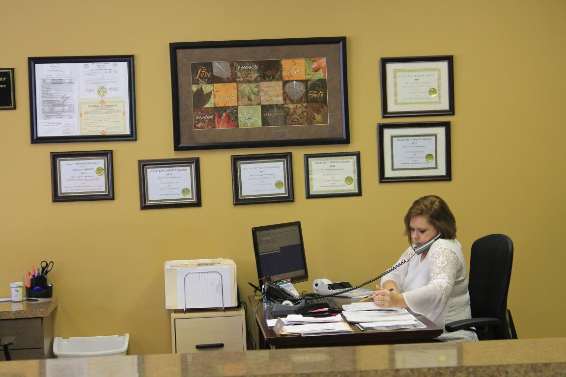 Answering calls about tax loans in Canton, GA