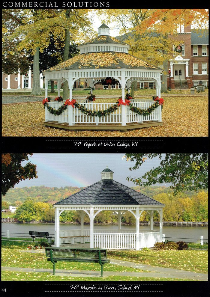 2 types of gazebo, built by Wood Kingdom East