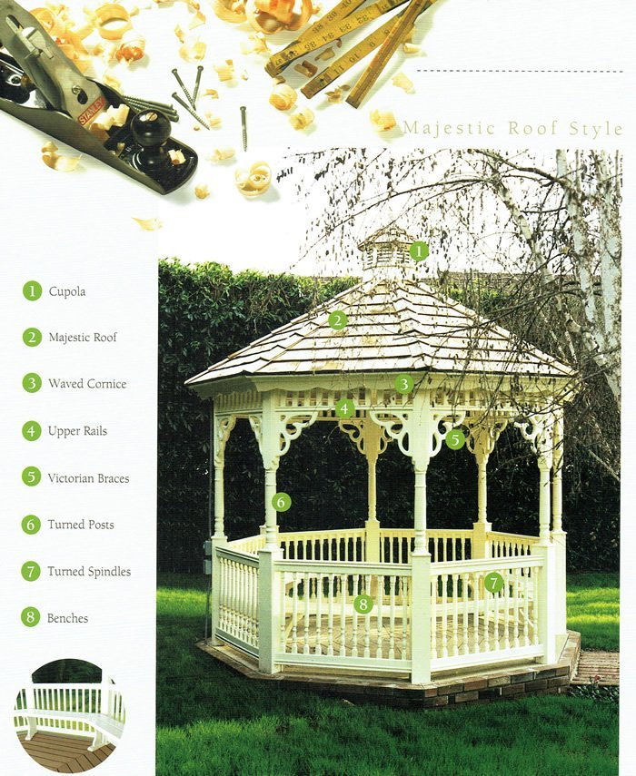 Majestic Roof Style gazebo - Wood Kingdom East