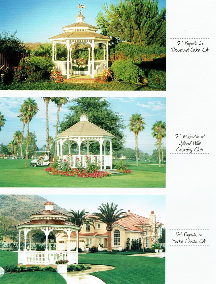 3 styles of gazebo - Wood Kingdom East