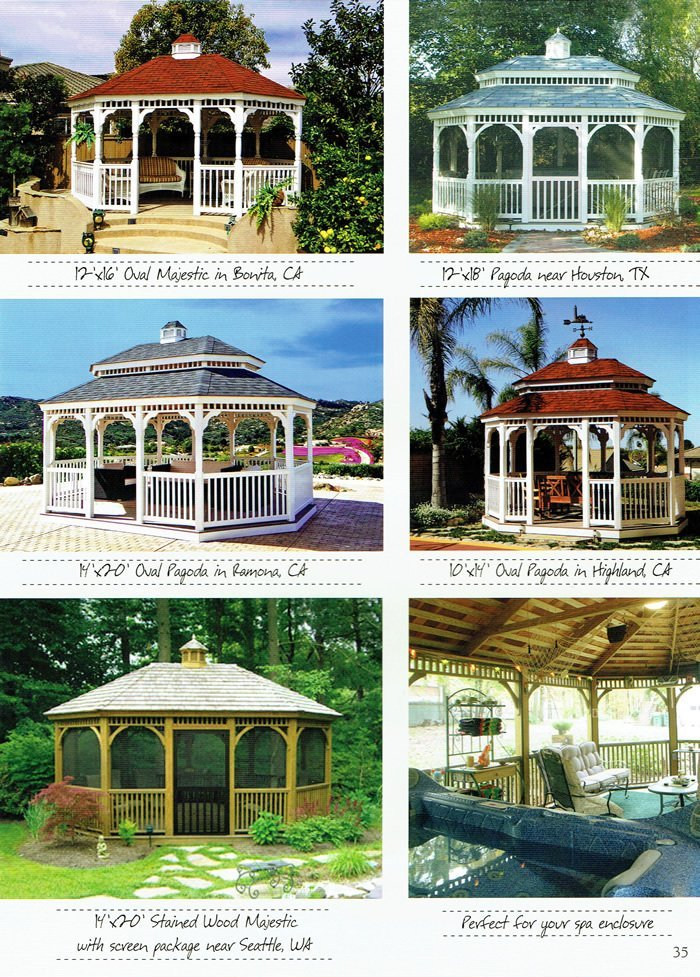 6 styles of gazebo - Wood Kingdom East