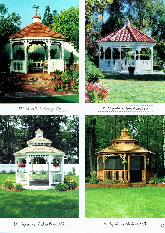 4 styles of gazebo - Wood Kingdom East