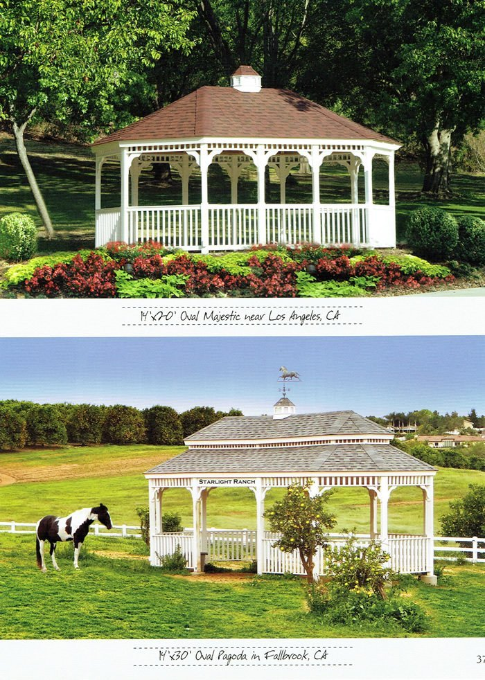 2 styles of gazebo - Wood Kingdom East