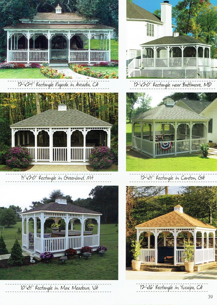 6 types of gazebo, available at Wood Kingdom East