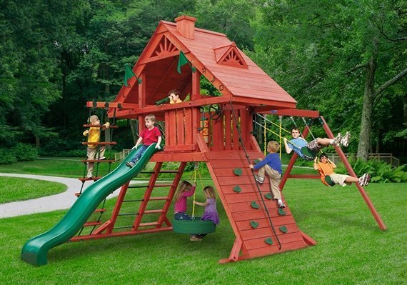backyard playground set built by Wood Kingdom East - Coram, Long Island, Medford, The Hamptons NY