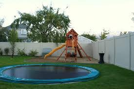 in ground trampoline, installed by Wood Kingdom East - Coram, Long Island, Medford, The Hamptons