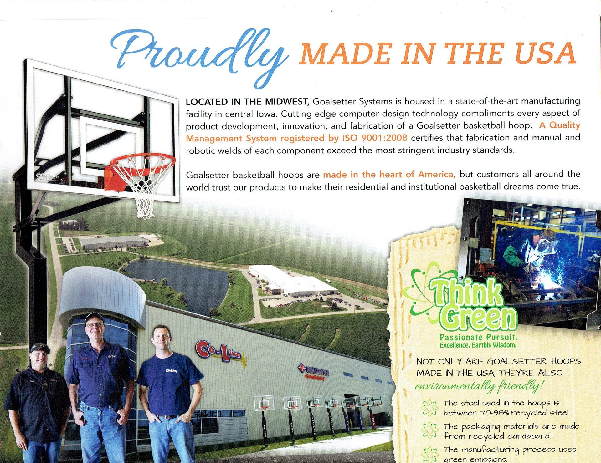 goalsetter basketball systems are made in the USA - Wood Kingdom East - Coram, Long Island, Medford, The Hamptons