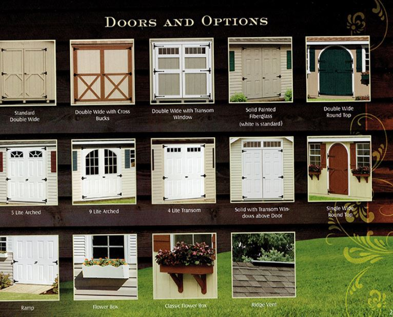 doors & other options for sheds from Wood Kingdom East