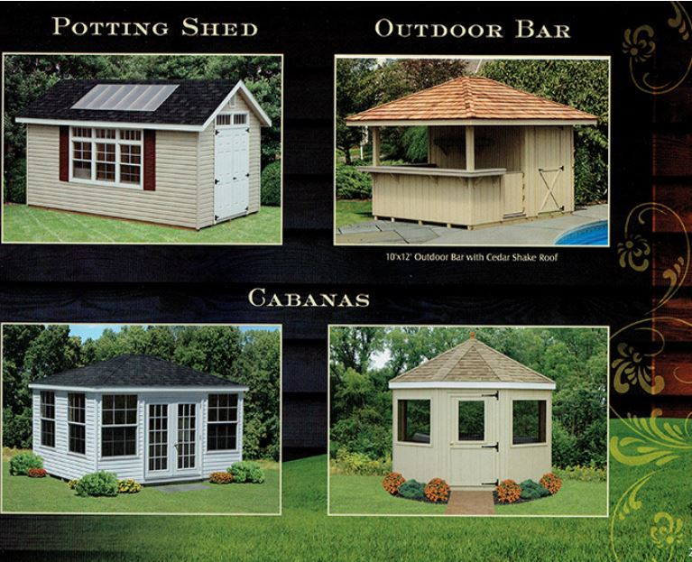 potting shed, outdoor bar, cabanas from Wood Kingdom East