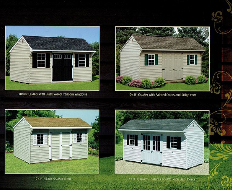 examples of quaker sheds - Wood Kingdom East