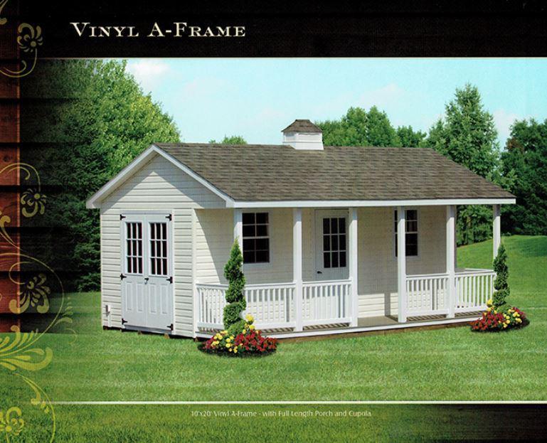vinyl a-frame shed - Wood Kingdom East