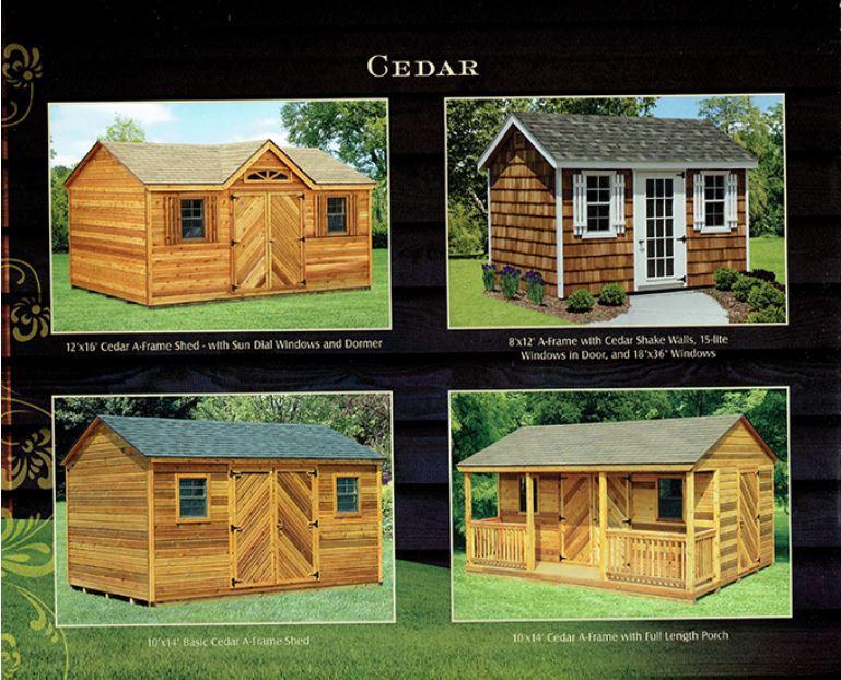 cedar sheds from Wood Kingdom East