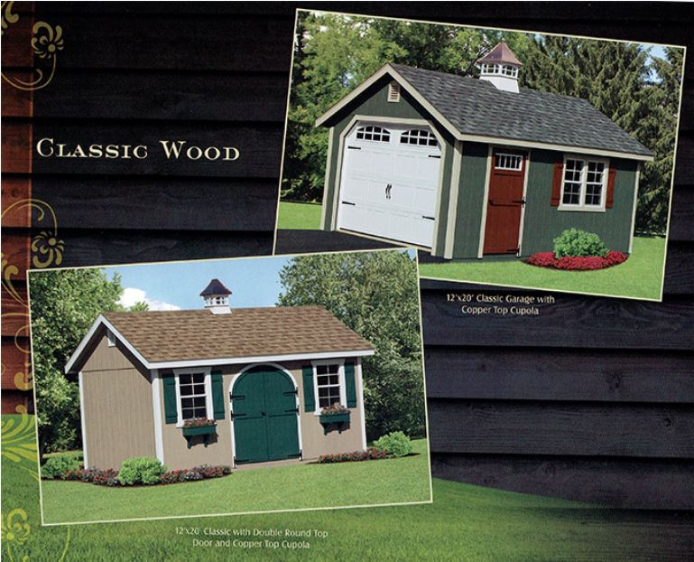 classic wood sheds from Wood Kingdom East