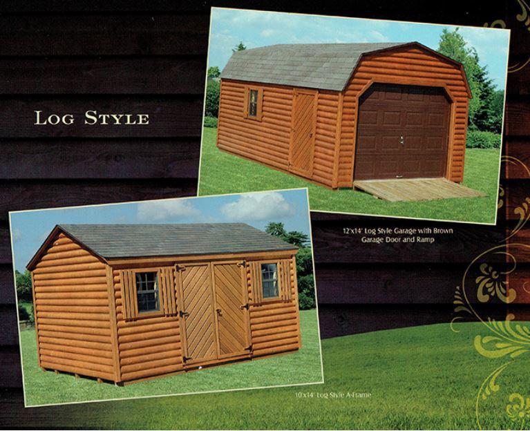 log style shed - Wood Kingdom East