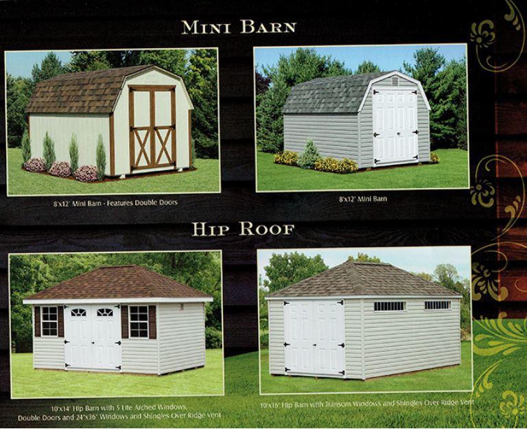 mini barn & hip roof sheds - Wood Kingdom East
