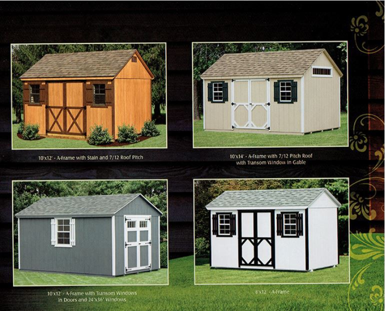 examples of wood a-frame sheds - Wood Kingdom East