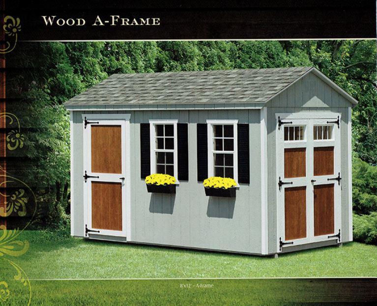 wood a-frame sheds - Wood Kingdom East