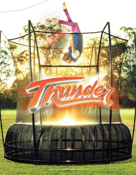 Vuly Thunder trampoline in backyard - Wood Kingdom East - Coram, Long Island, Medford, The Hamptons