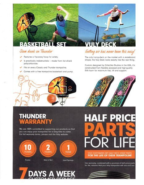 vuly thunder trampoline accessories - Wood Kingdom East - Coram, Long Island, Medford, The Hamptons
