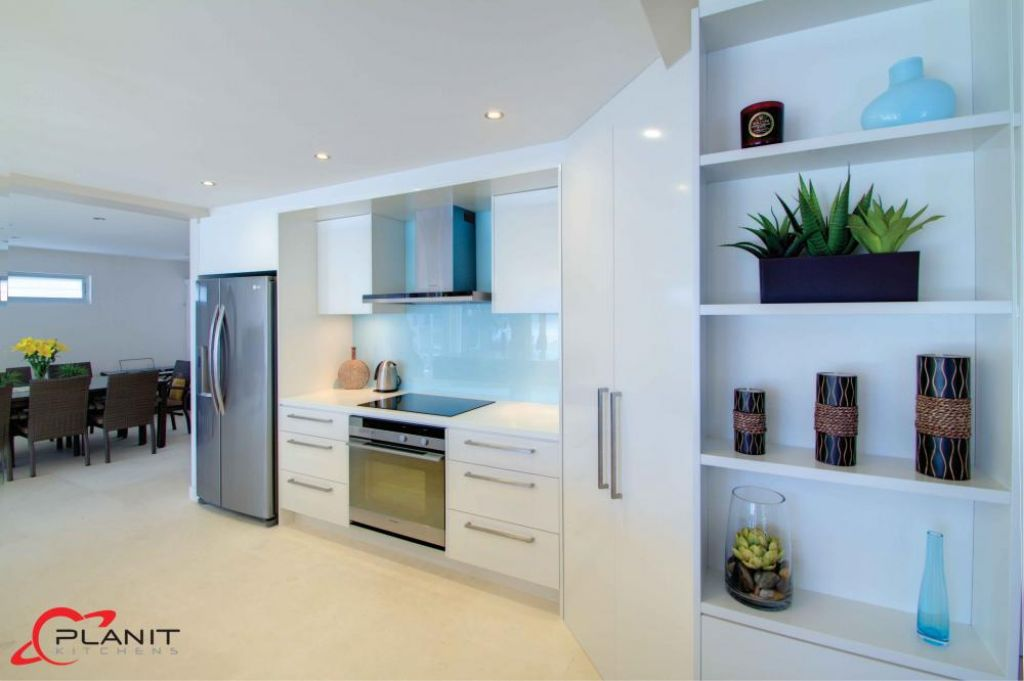 contemporary large open kitchen