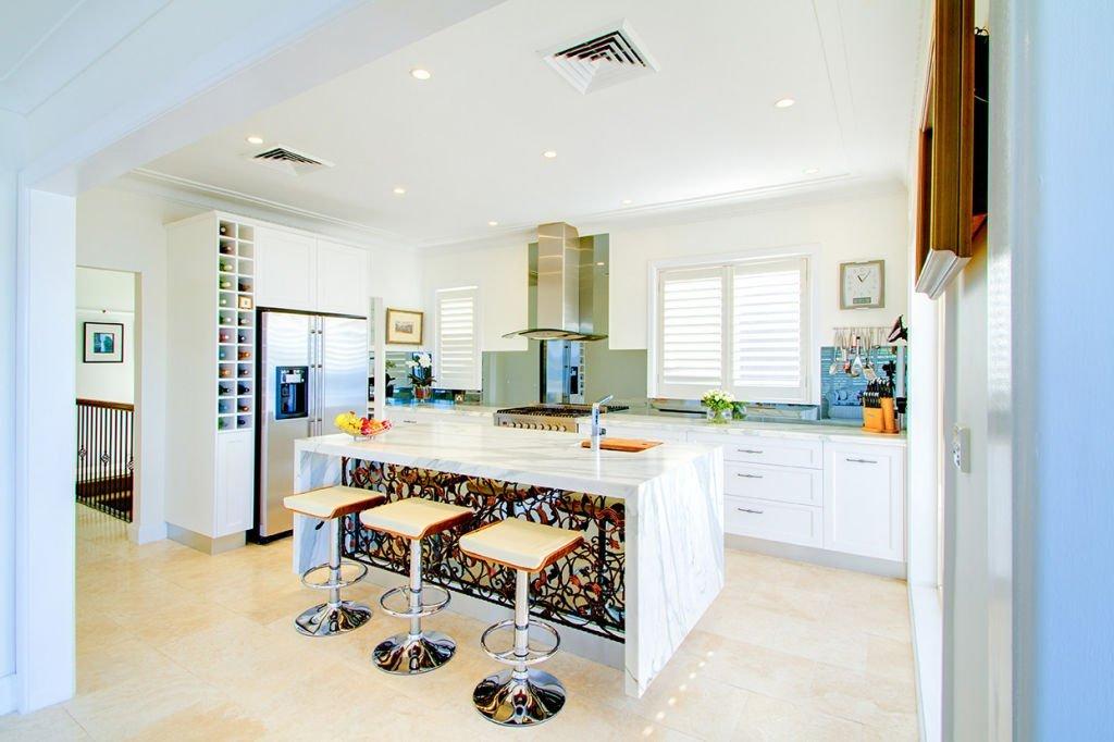elegant kitchen with pretty island